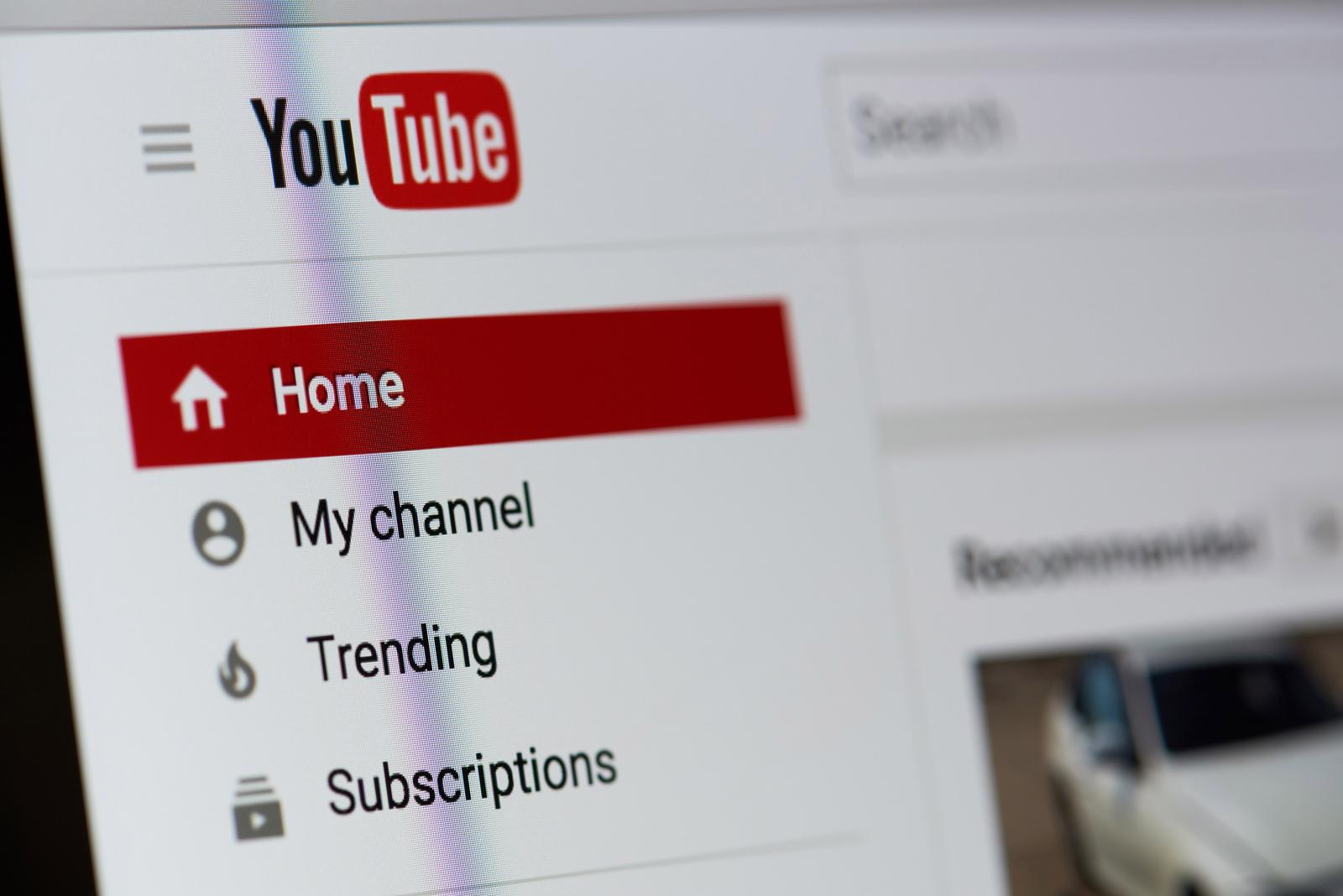YouTube logo on the web