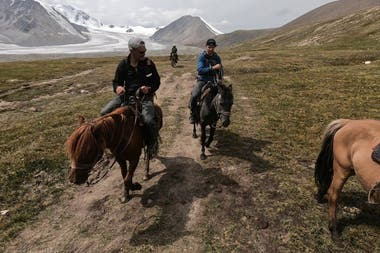 Jamie and his son toured Mongolia by motorcycle, horse and camel