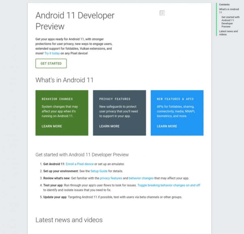 Preview for Android 10 developers leaked