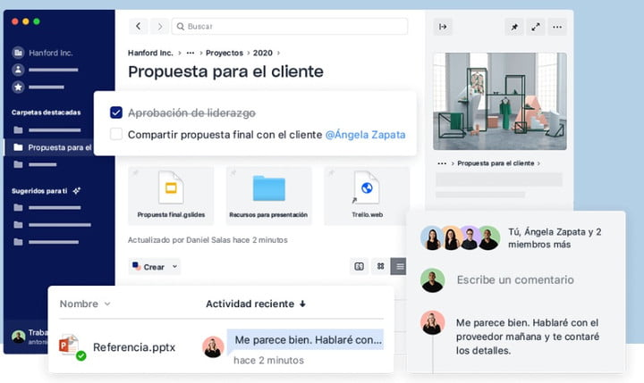 DropBox Business work screen as the best option in the cloud