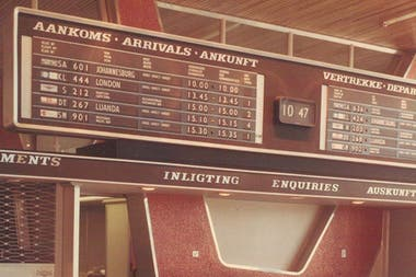 This is what a Solari board looked like in Windhoek, Namibia, in 1965