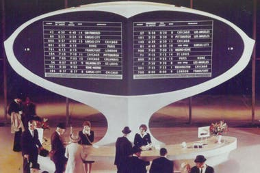 The Solari dashboard as seen at JFK Airport in New York in 1962