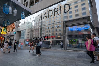 The Chinese firm Huawei opened in Madrid the largest own store in Europe