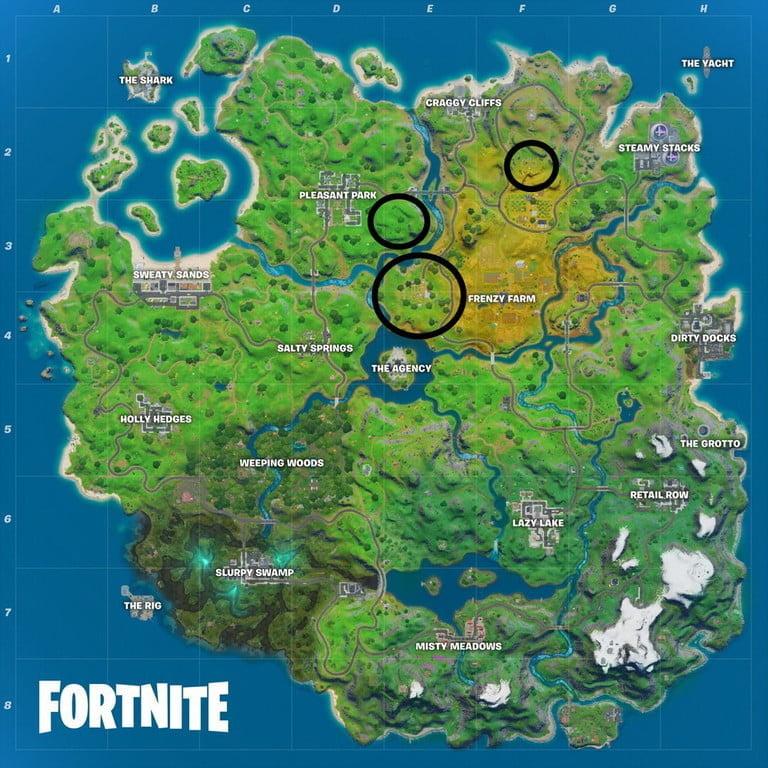 Fortnite map, week 4