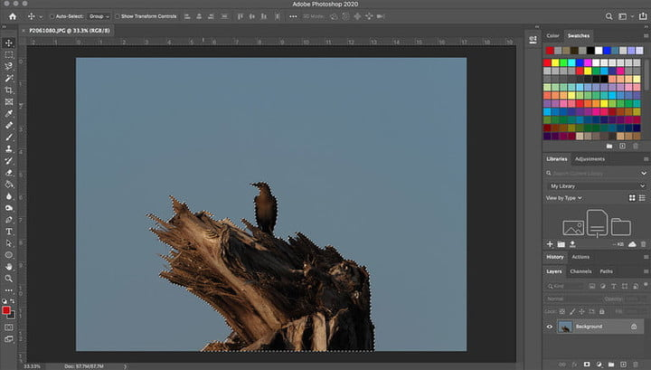 Image selection screen in Photoshop