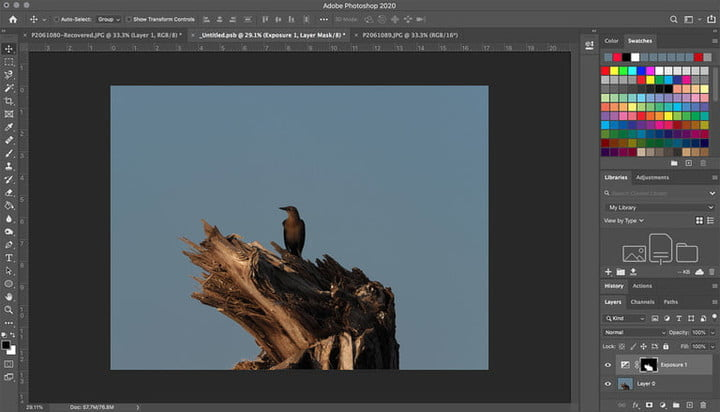Photoshop layer masking setting screen to learn how to create layers in Photoshop