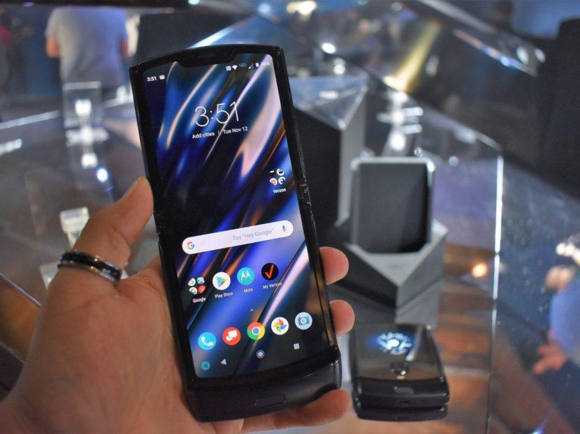 New Motorola Razr with flexible display