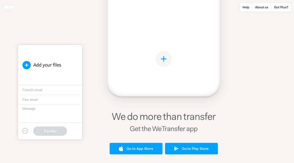WeTransfer updates its application and destroys it
