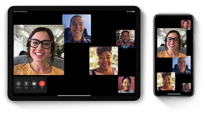 Group FaceTime interface