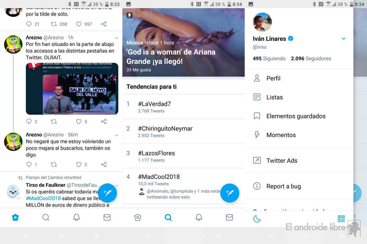 Twitter for Android updates its interface with a new lower menu