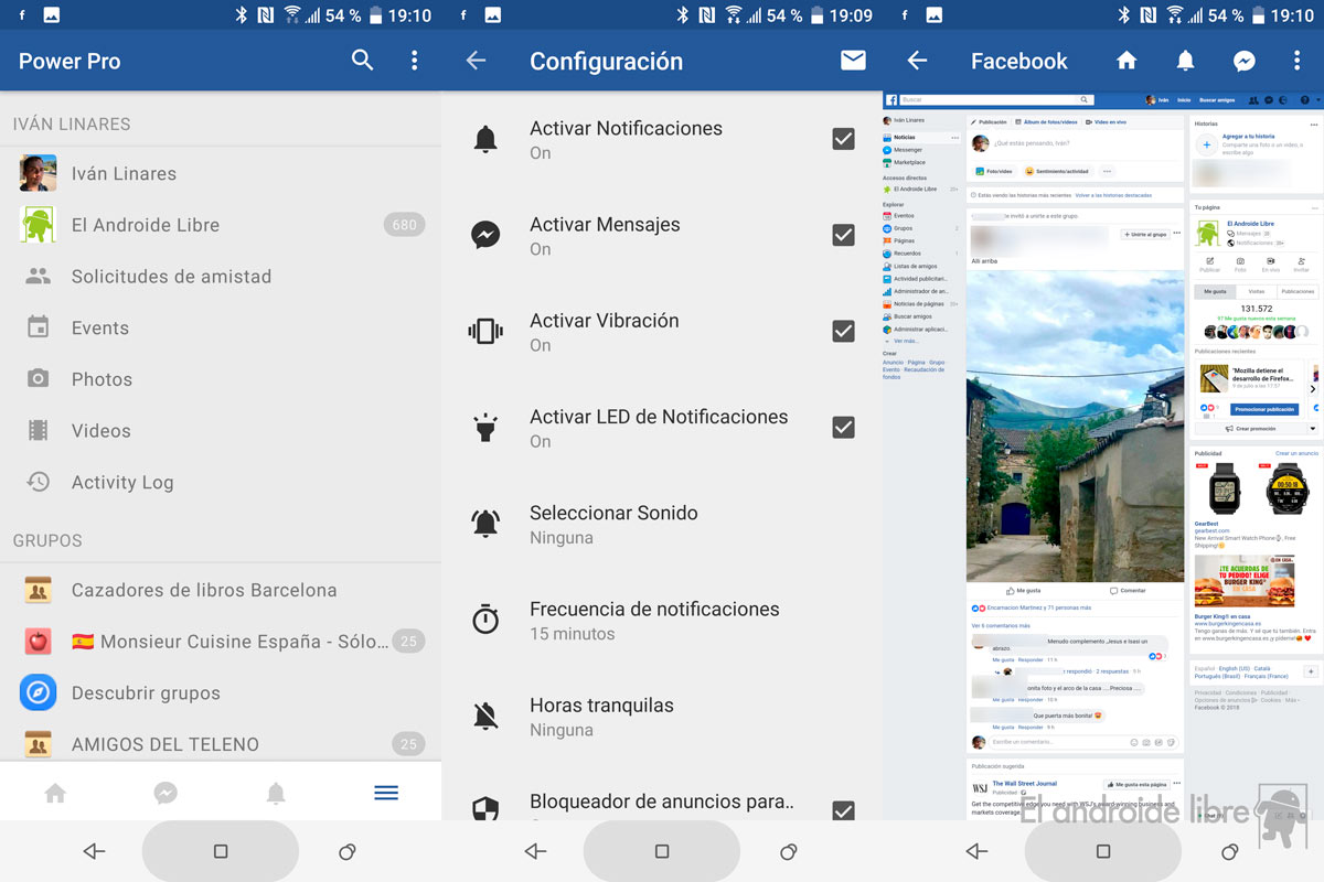 Facebook and Messenger in a spectacular application: light and complete