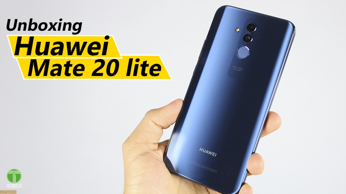Unboxing Huawei Mate 20 Lite exclusively