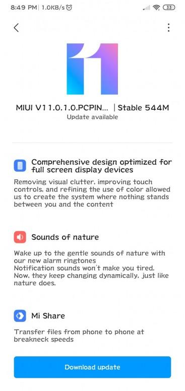 MIUI 11 update for Redmi 8A
