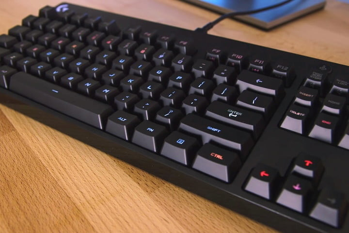 The best mechanical keyboard overall: Logitech G Pro Gaming on a wooden desk