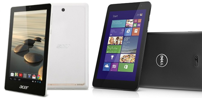 Dell Venue 8 Pro and Acer Iconia One 7 change processor