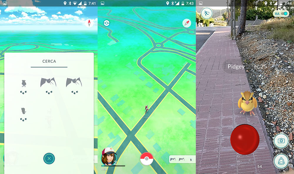 Pokémon GO touchdown for Android