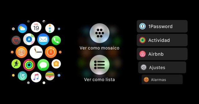 Apple Watch List Menu