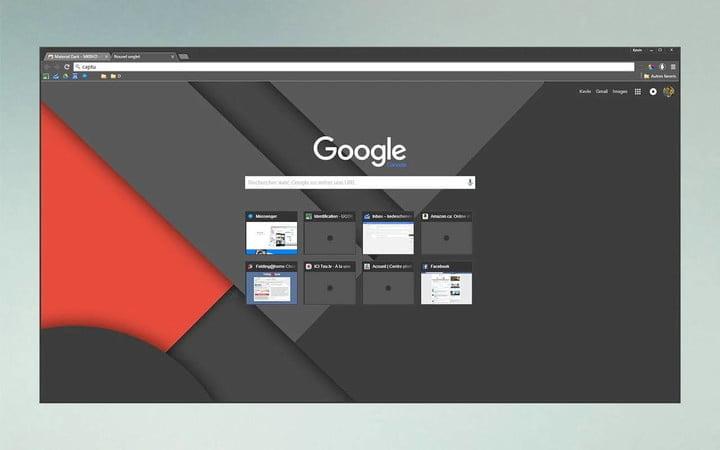 Google Chrome Material Dark theme
