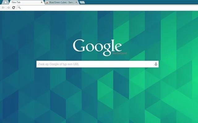 Google Chrome Blue / Green Cubes Themes