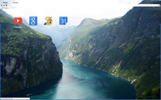Google Chrome Themes Norwegian Fjord