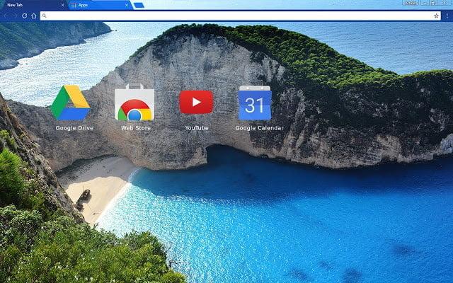Themes for Google Chrome Greek Beach