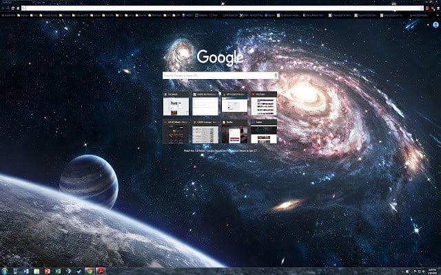 Google Chrome Galaxy Aero 1440p Themes