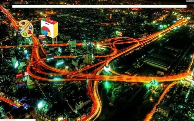 Google Chrome Themes City Lights