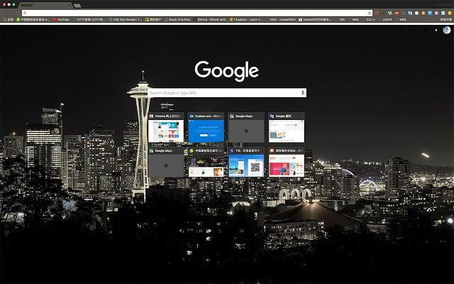 Google Chrome Themes Seattle Night