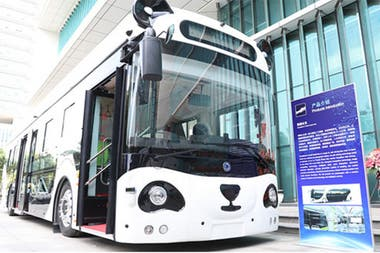 In the Panda Bus developed by Deepblue, passengers can shop on board with a vein identification system, and is equipped with screens for advertising with pupil tracking and facial recognition
