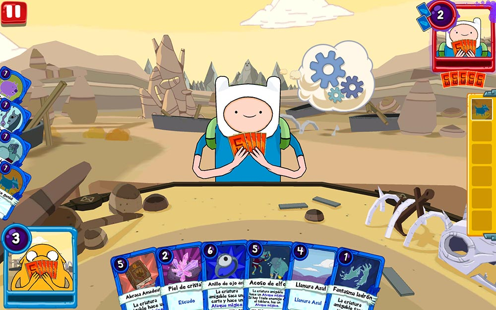 Card Combat in Adventure Time with Card War: the Kingdom