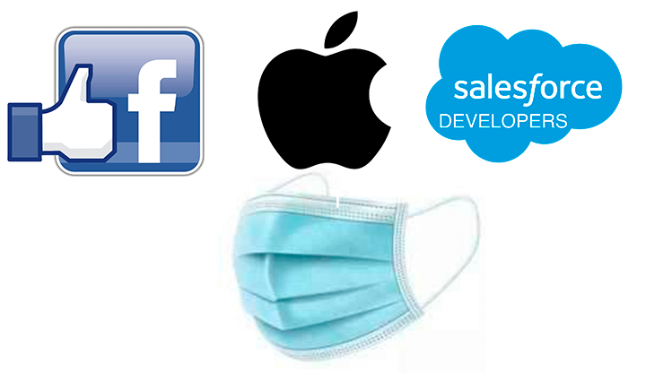 Facebook, Apple and Salesforce to donate face masks