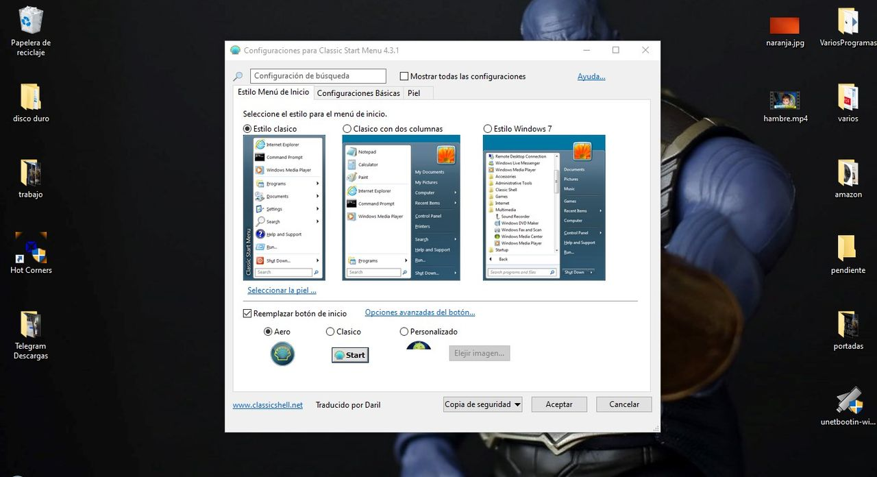 How to have Windows 7 menu in Windows 10