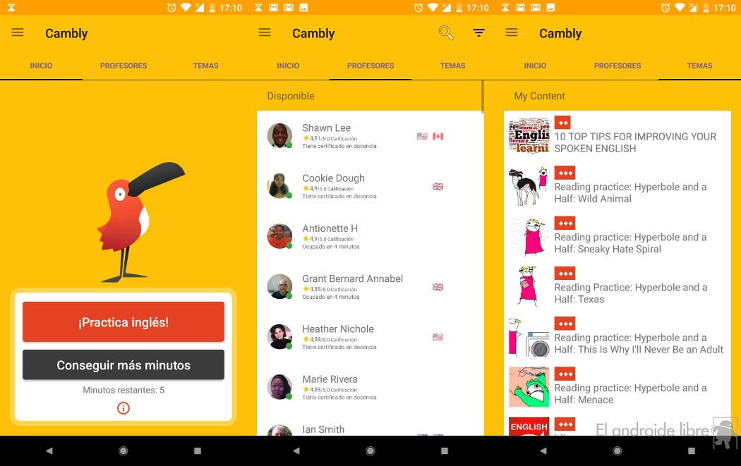 Learning English with teachers online is possible thanks to this app