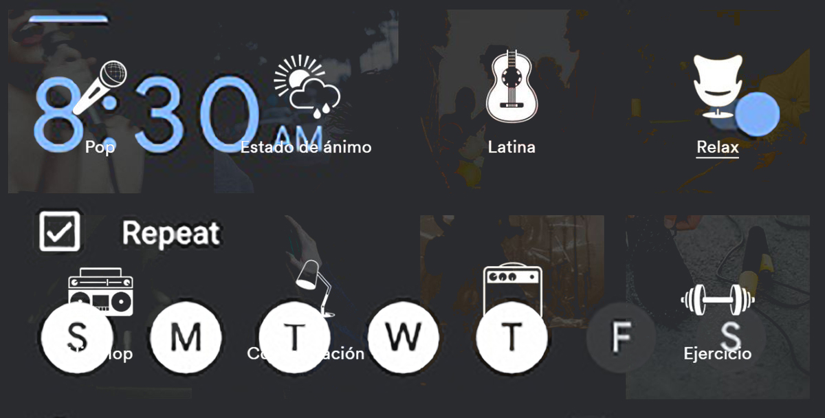 Spotify alarms