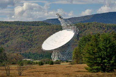 The Green Bank telescope in West Virginia collected information from deep space that was processed by SETI @ Home program volunteers