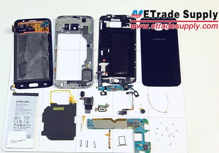 Samsung Galaxy S6 despiezado por completo