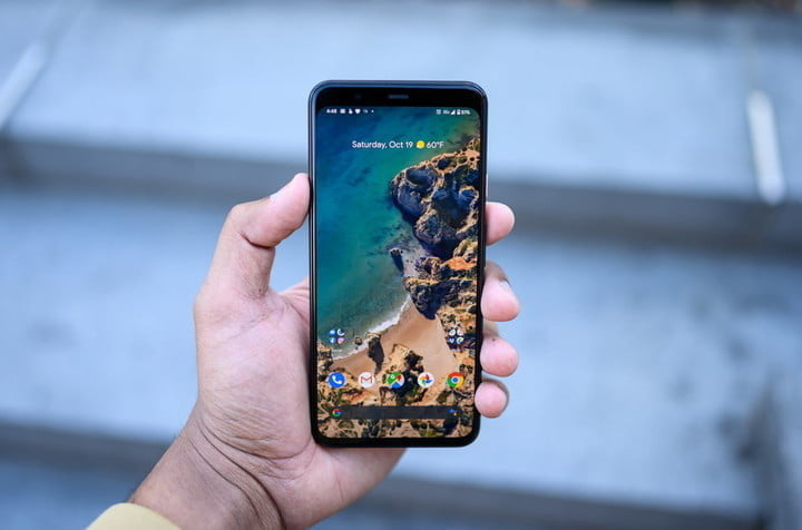 Pixel 4 XL in hand