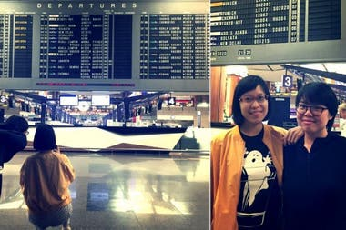 Eileen Lim and Nicole Lee went especially to Terminal 2 of Changi Airport, in Singapore, to take the picture