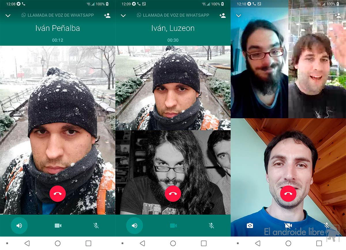 WhatsApp activates group video calls: talk to up to 4 people