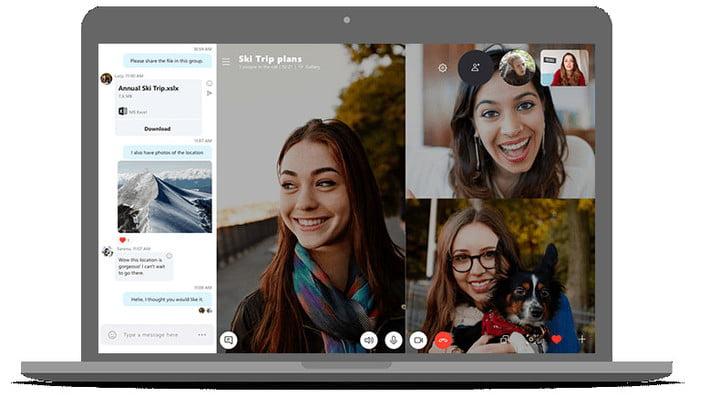 Skype main interface