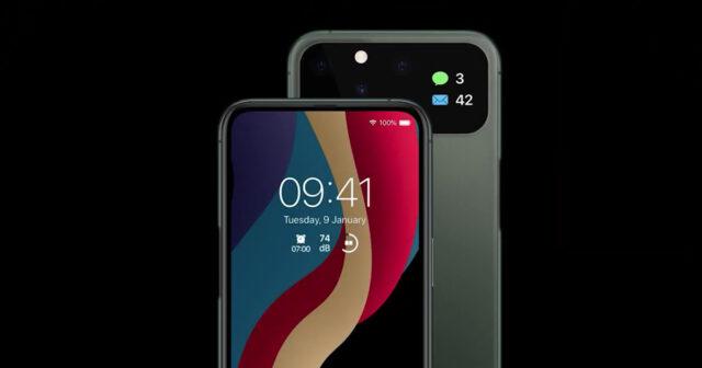iPhone 12 rear screen concept