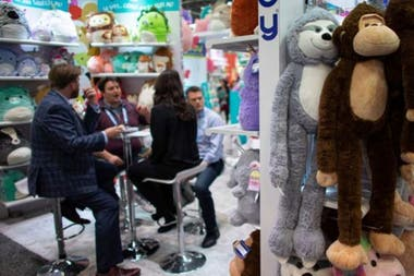 The toy fair in New York attracts 25,000 people from the industry